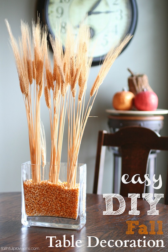 Best Easy Diy Fall Table Decoration Faithful Provisions This Month