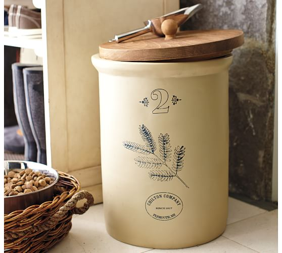 Best Vintage Pet Food Storage Container With Scoop Pottery Barn This Month