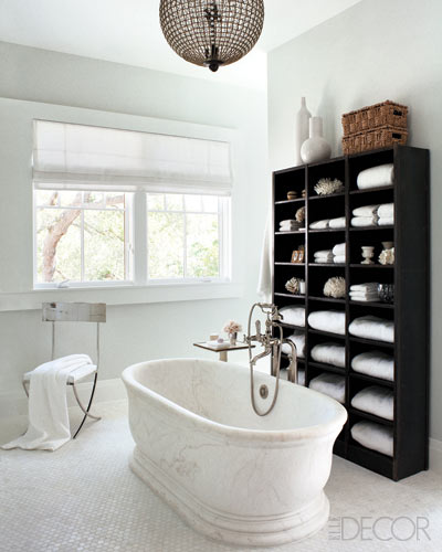 Best Marble Tub Transitional Bathroom Elle Decor This Month