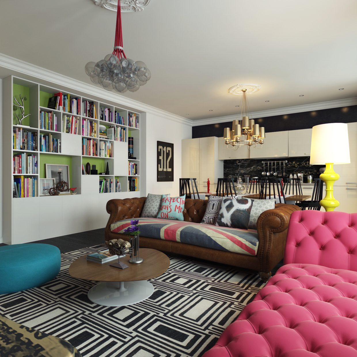 Best Modern Pop Art Style Apartment This Month