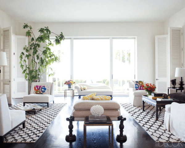 Best 15 High Fashion Living Rooms With Geometric Decorator Rugs This Month