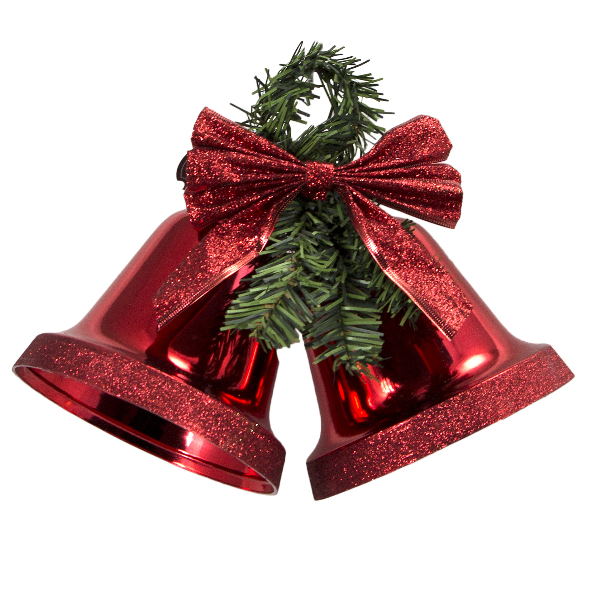 Best Trim A Home® 150Mm Red Double Bell With Glitter Accent This Month