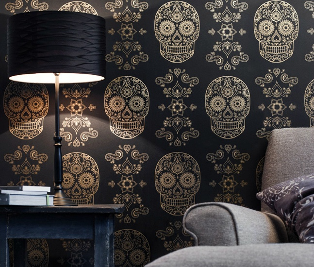Best Gold Sugar Skull Wallpaper Cool Material This Month