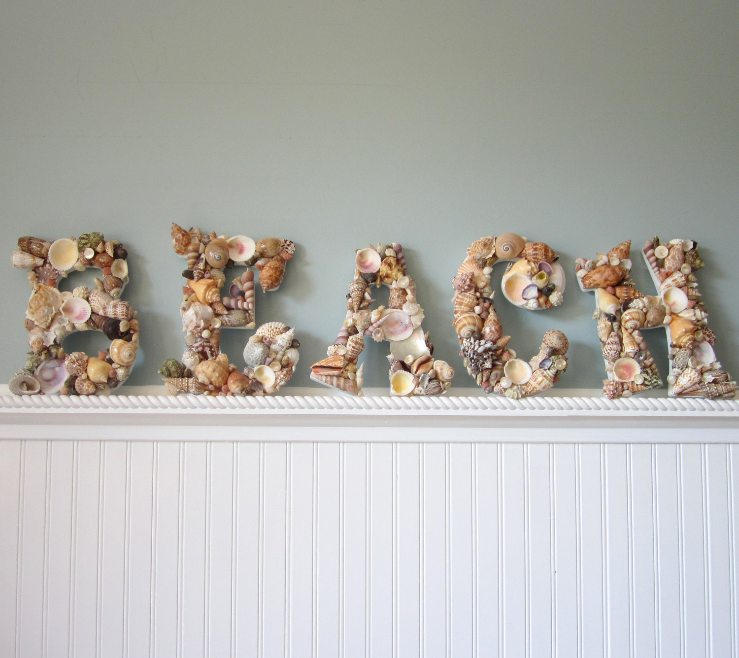 Best Nautical Decor Shell Letters Beach Decor Seashell This Month