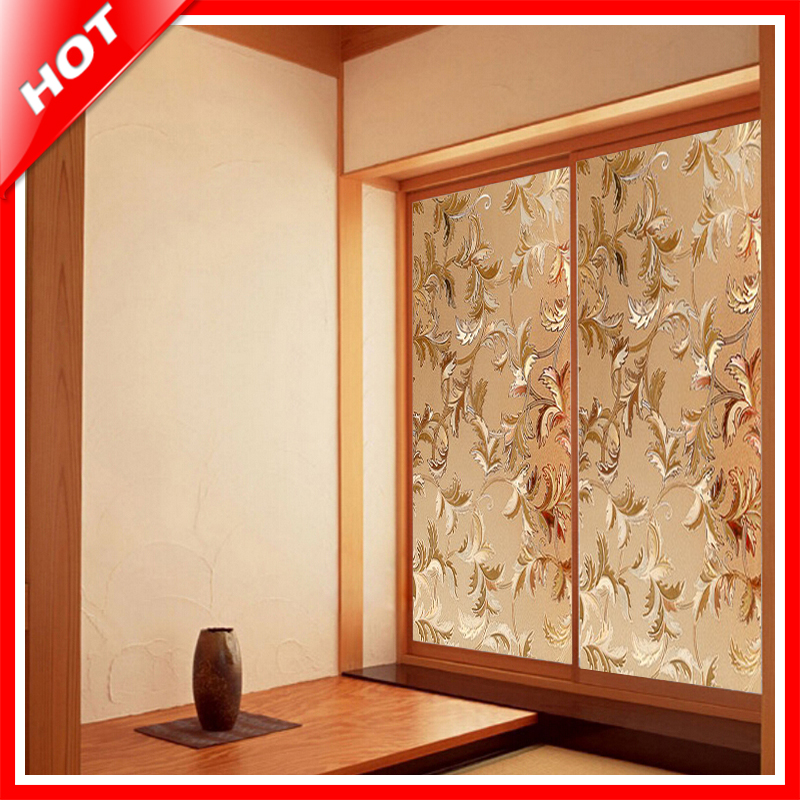 Best Fashion 45 100Cm Flower Stained Glass Film Decorative This Month