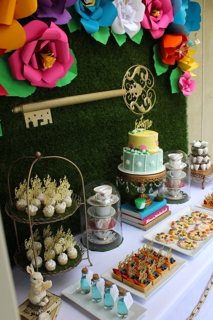 Best Kara S Party Ideas Alice In Wonderland Dessert Table This Month