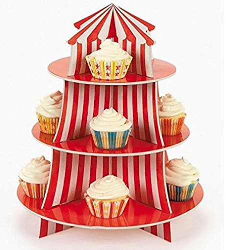 Best Big Top Circus Carnival 3 Tier Cupcake Holder Centerpiece This Month