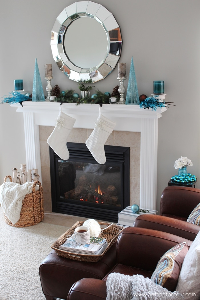 Best Glam Christmas Mantel Setting For Four This Month