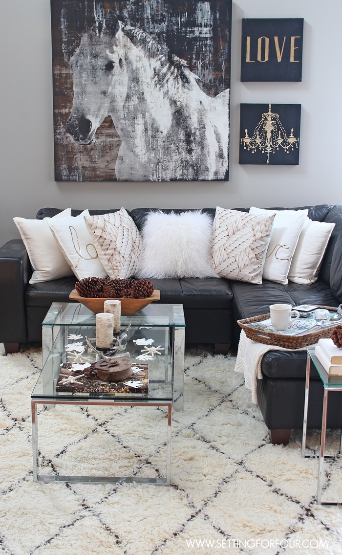 Best Rustic Glam Living Room New Rug Setting For Four This Month