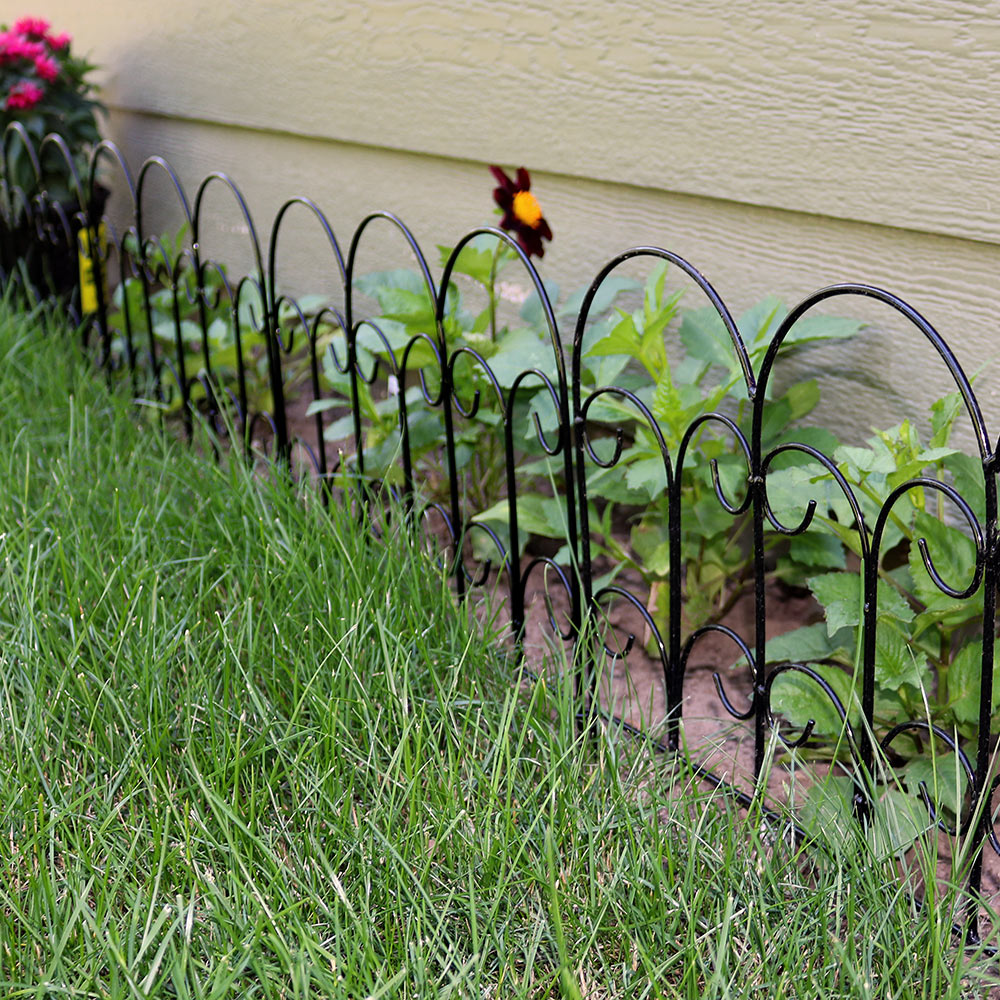 Best Sunnydaze Set Of 5 Border Fence Panels Garden Decor This Month