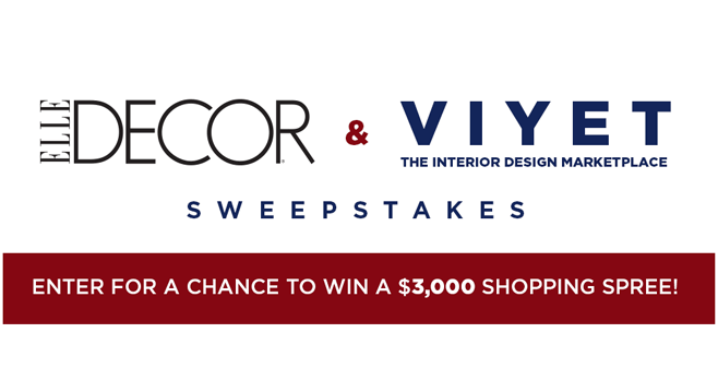 Best Elle Decor Viyet Sweepstakes Viyet Elledecor Com This Month