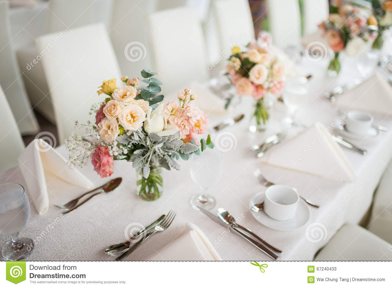 Best Beautiful Flowers As Dining Table Decoration Stock Image This Month