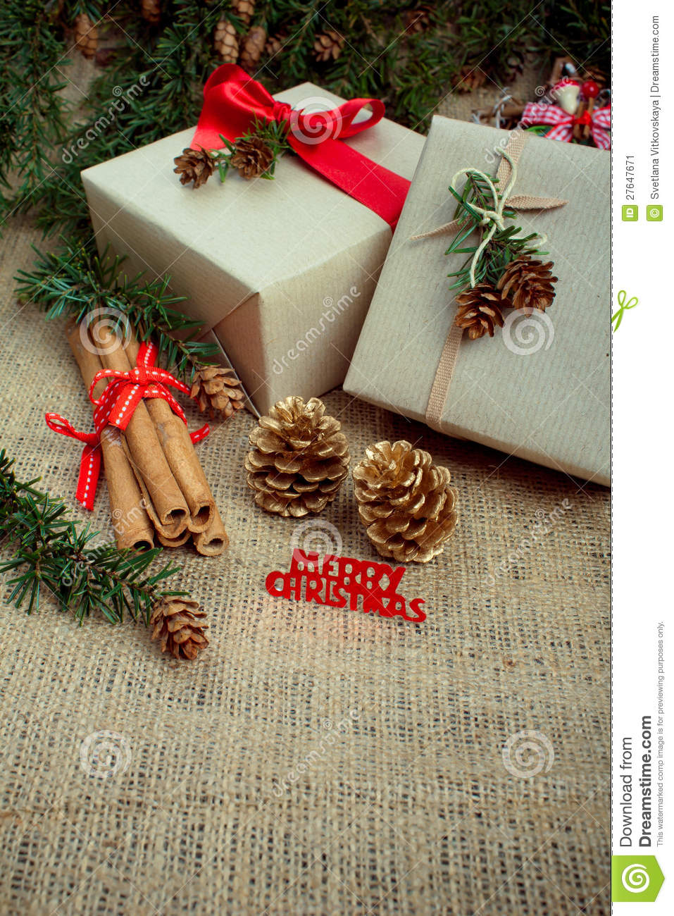 Best Christmas Gift Boxes And Decorations Rustic Style Stock This Month