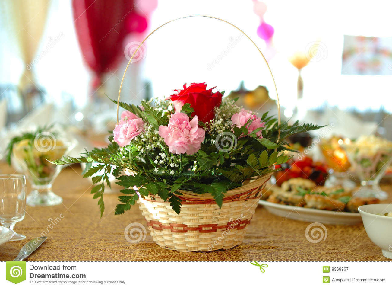 Best Flower Decoration On Holiday Table Stock Image Image This Month
