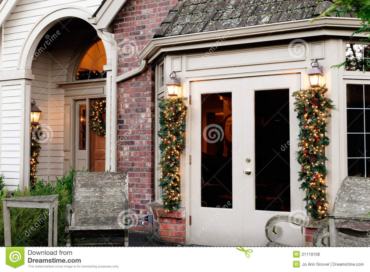 Best Holiday Home Exterior Decorations Royalty Free Stock This Month