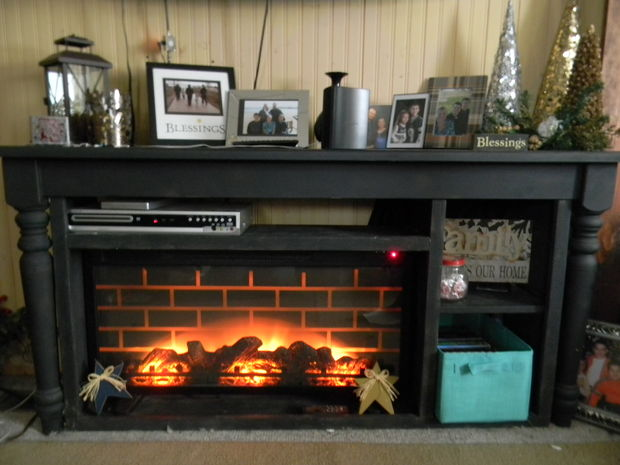 Best Build A Faux Fireplace Using An Old Table All Created This Month