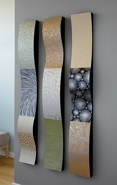 Best Stainless Steel Wall Ribbons By Linda Leviton Metal Wall This Month