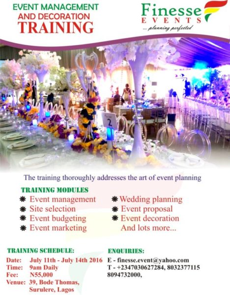Best Finesse Events Presents Event Management And Decoration This Month