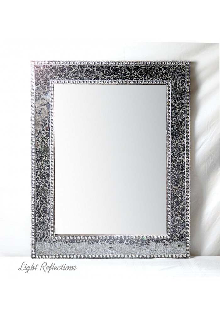 Best Buy 30 X24 Black Gray Crackled Glass Decorative Wall This Month
