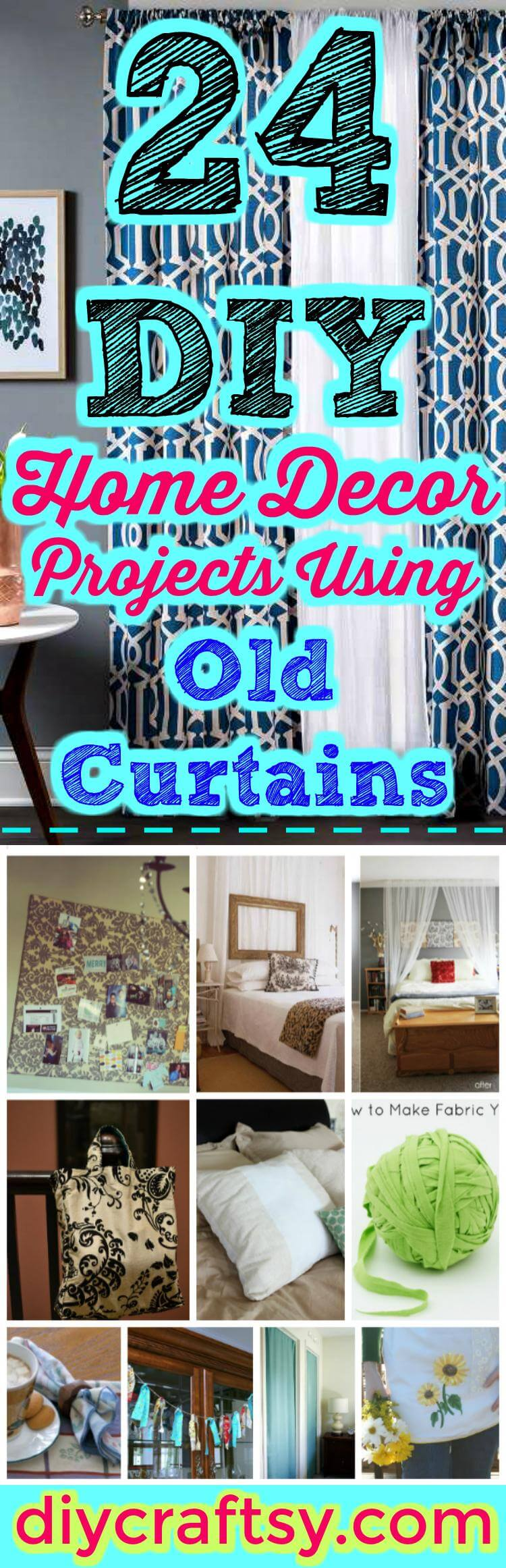 Best 24 Diy Home Decor Projects Using Old Curtains Page 2 Of This Month