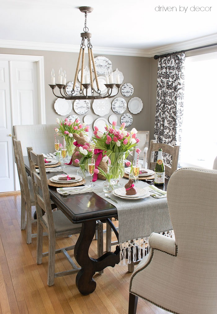 Best Setting A Simple Easter Table With Decorations You Can This Month