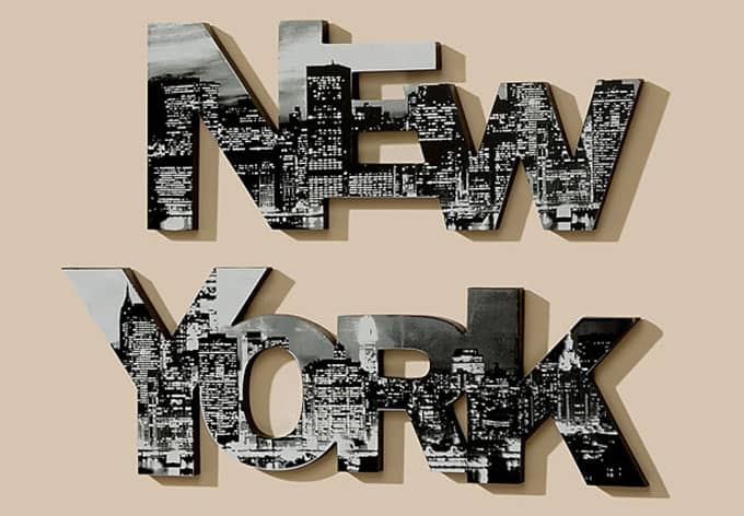 Best New York Lettering 3D Letter Wall Art Com This Month