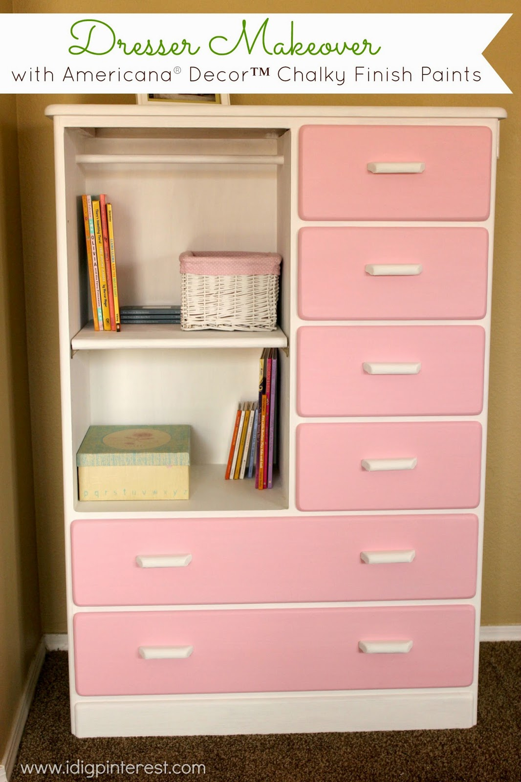 Best Dresser Makeover With Americana® Decor™ Chalky Finish This Month