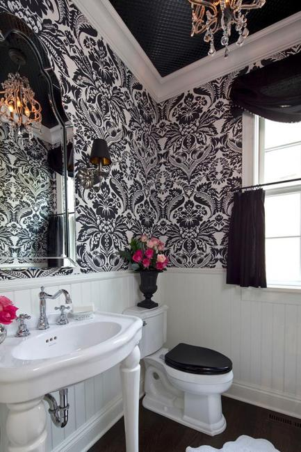Best Modern Bathroom Design And Decorating With Wallpaper This Month