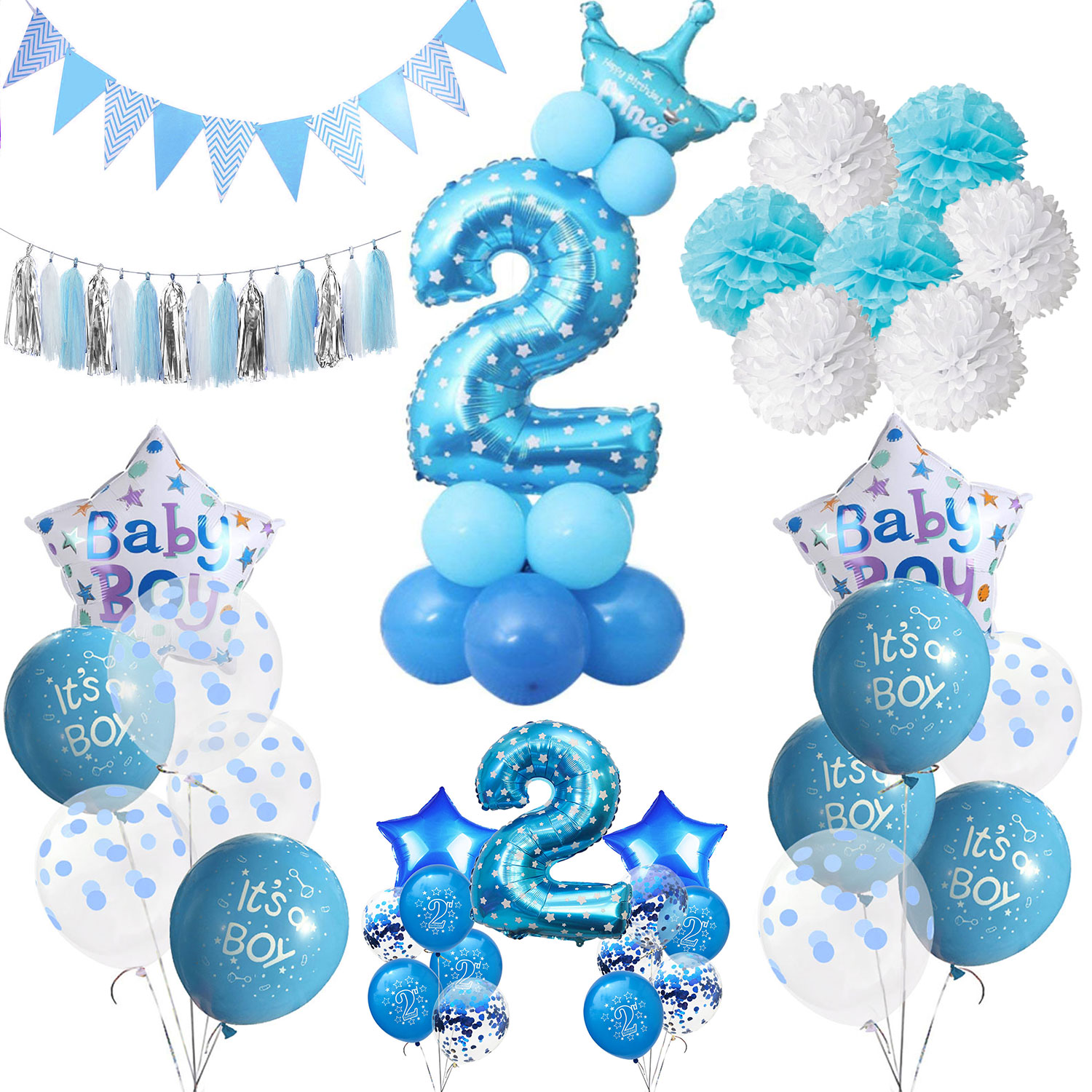 Best Zljq Boy 2 Year Old Birthday Party Decor Foil Confetti This Month
