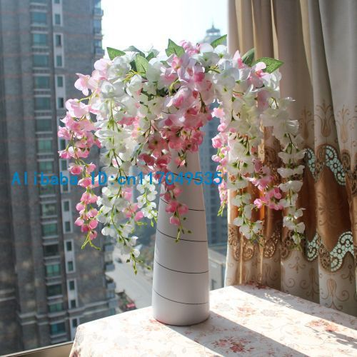 Best 1Pcs Artificial Wisteria Silk Flower Home Wedding Bouquet This Month
