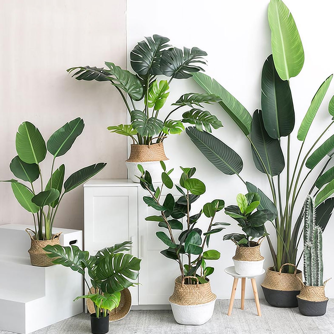 Best Artificial Plants Green Turtle Leaves Garden Home Decor 1 This Month