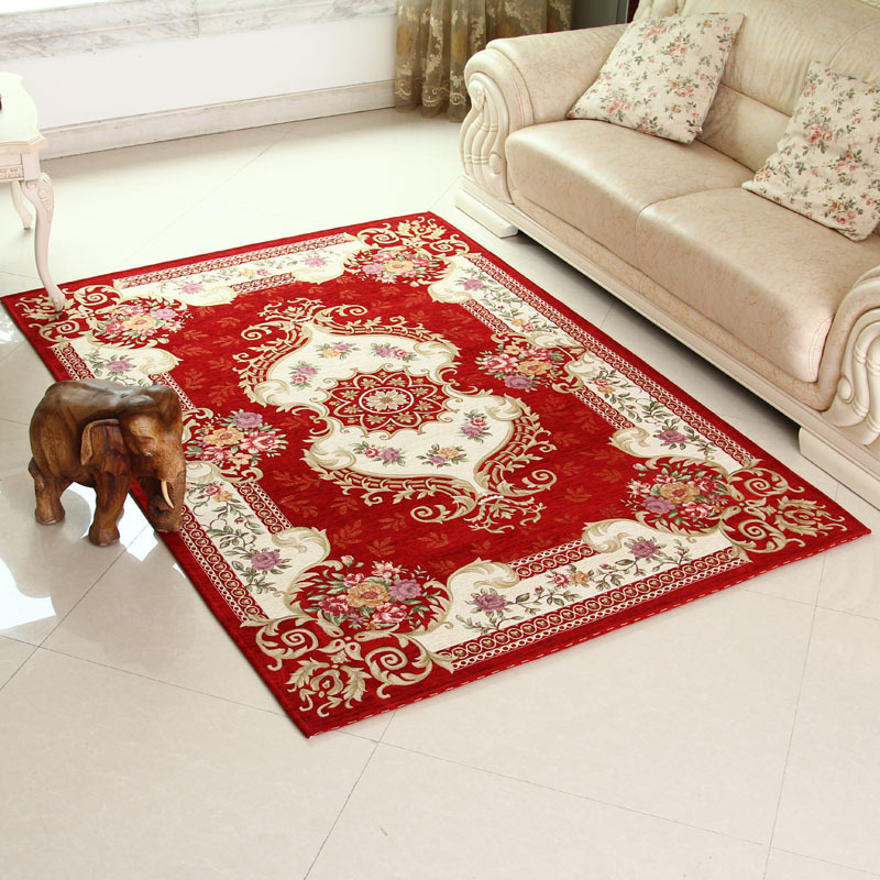 Best 160 230 Cm Red Area Rugs For Home Rural Flower Floor This Month