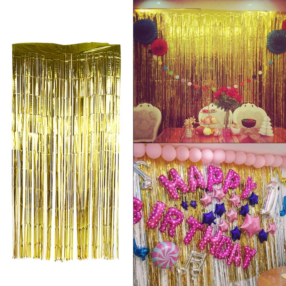 Best Wedding Wall Curtain Party Kids Home Metallic Fringe This Month