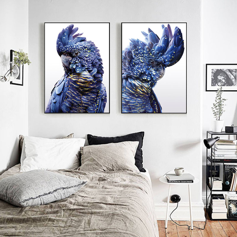 Best Navy Blue Bird Wall Pictures For Living Room Home Decor This Month
