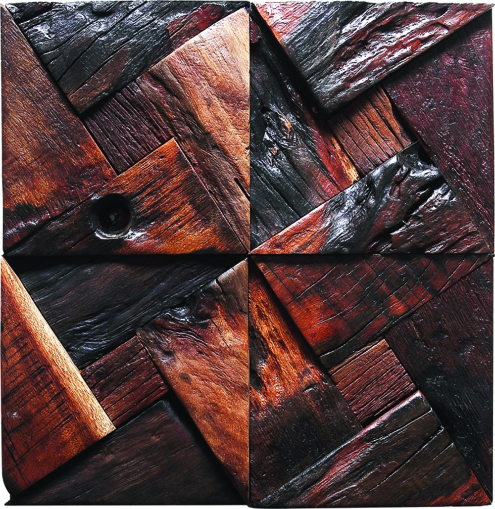 Best Tst Dark Wood Wall Triangle Blocks Arched Wall Panel Decor This Month