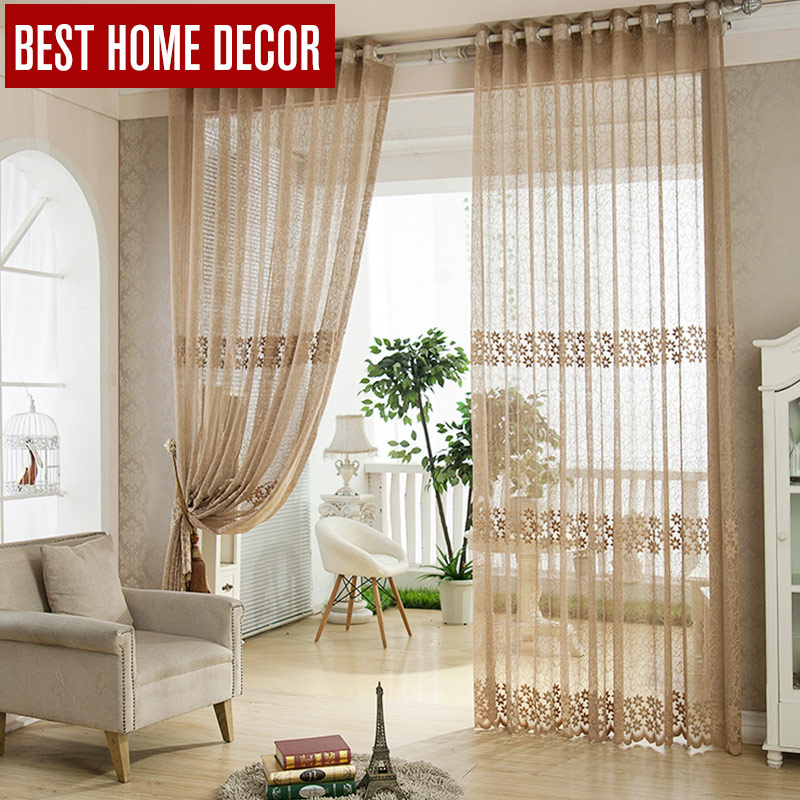 Best Home Decor Tulle Sheer Window Curtains For Living This Month