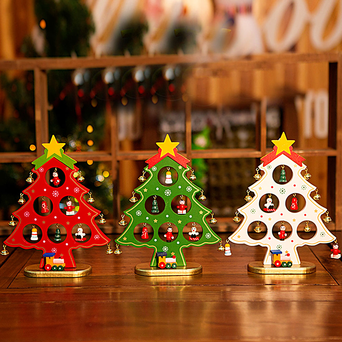 Best Top Sale Christmas Ornament Wooden Christmas Tree This Month