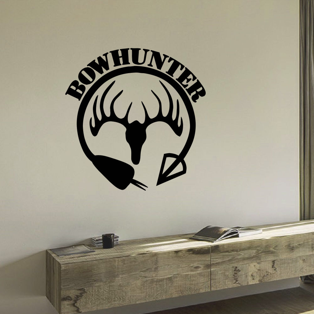 Best Wall Decal Vinyl Sticker Animal Deer Arrow Hunt Bow This Month