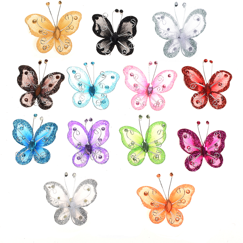 Best 10Pcs Mixed Wire Rhinestone Butterfly Wedding Decorations This Month