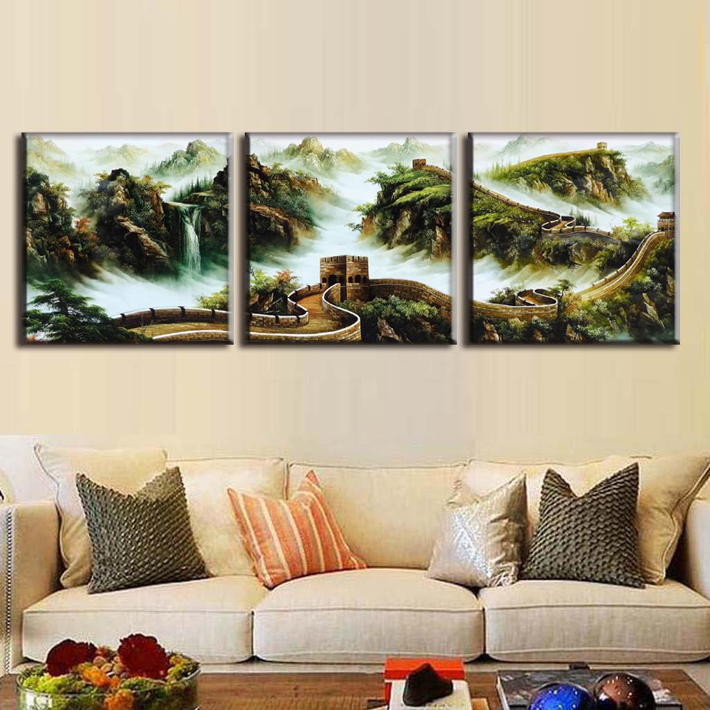 Best Discount Framed Painting 3 Pcs Set Traditional Chinese This Month