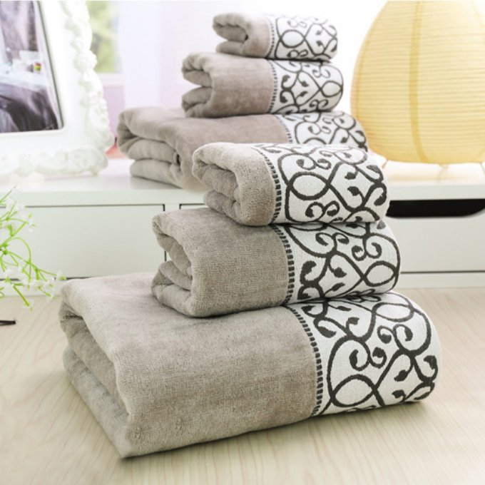 Best 3Pcs Decorative Luxury Cotton Bath Towels Sets For Adults This Month