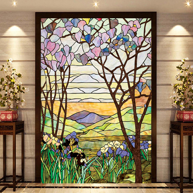 Best European Church Mosaic Art Glass Film Stained Window This Month