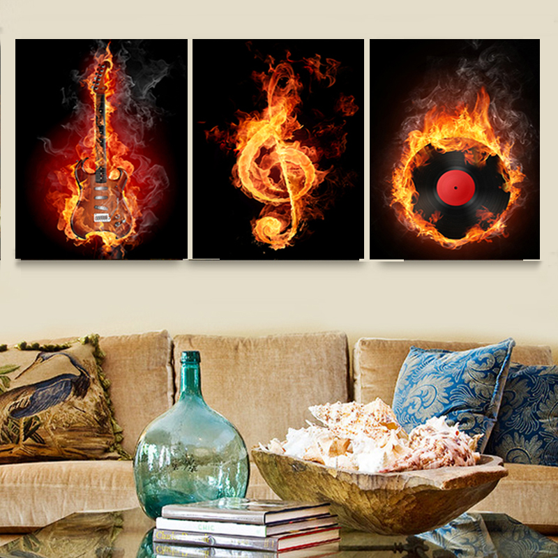 Best Music 3 Piece Canvas Wall Painting Abstract Home Decor This Month