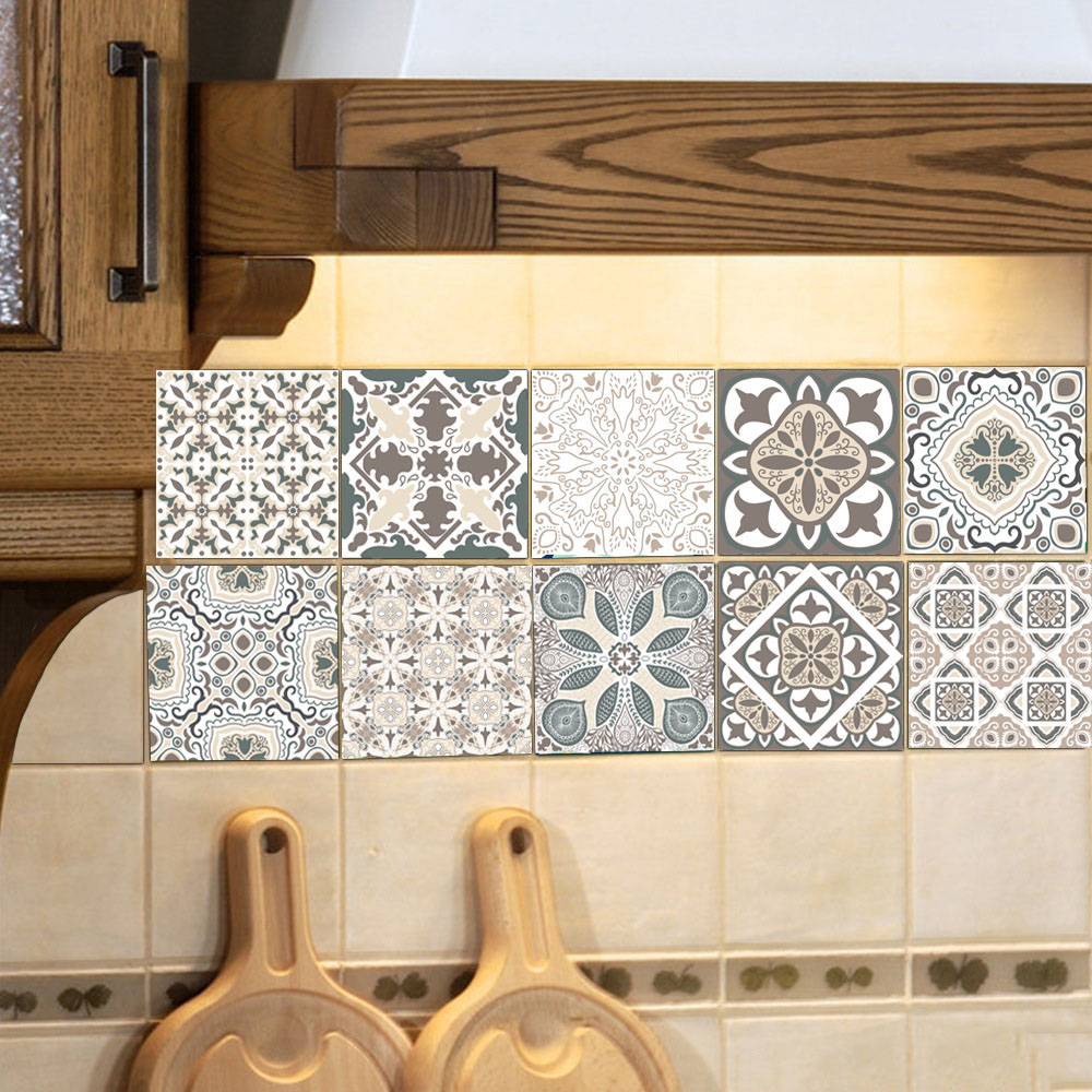 Best European Style Retro Pattern Tile Stickers Pvc Bathroom This Month