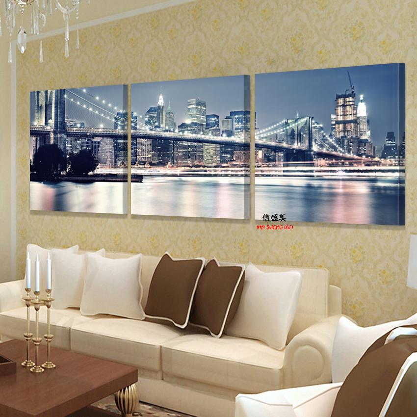 Best No Frames Picture 3 Piece Modern Cheap Home Decor Wall This Month