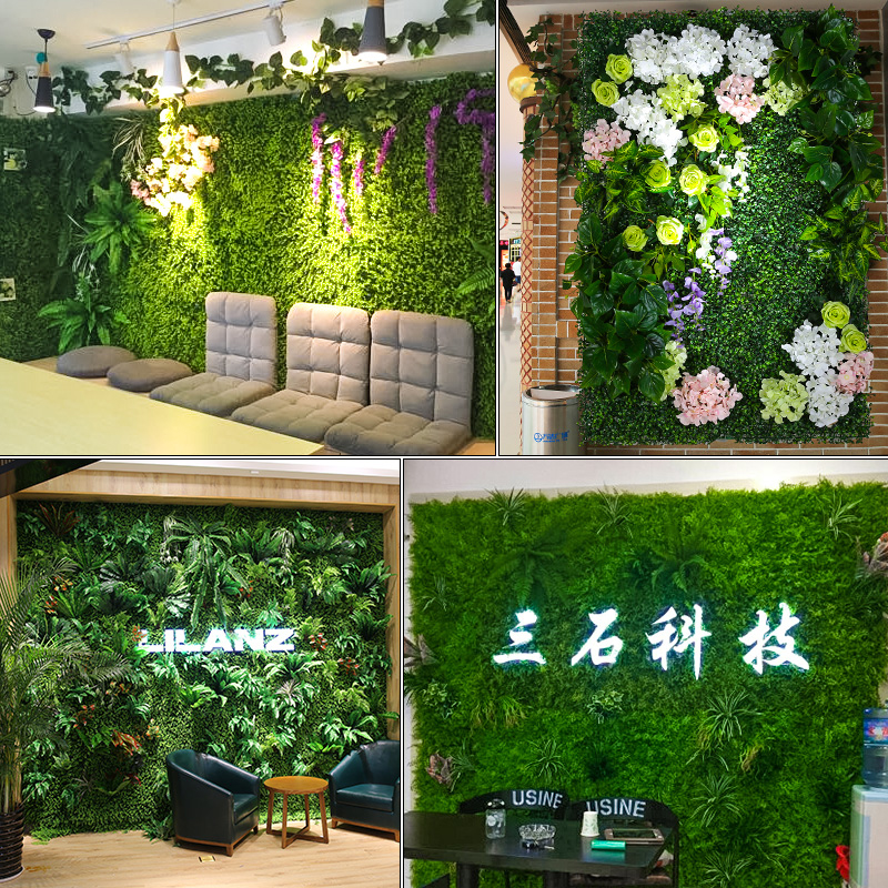 Best Luyue Plant Wall Artificial Lawn Boxwood Hedge Garden This Month