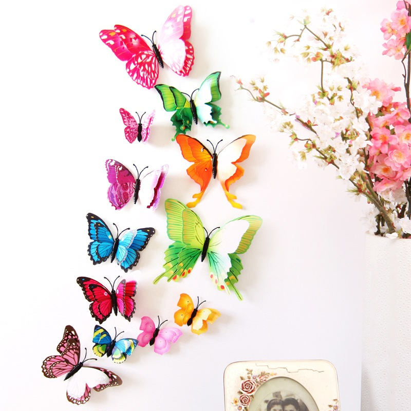 Best 12 Pcs 3D Pvc Wall Stickers Magnet Butterflies Home Decor This Month
