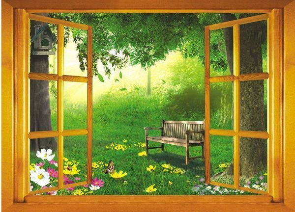 Best New Arrival Vinyl Home Decor Wall Sticker Fake Window Wall This Month
