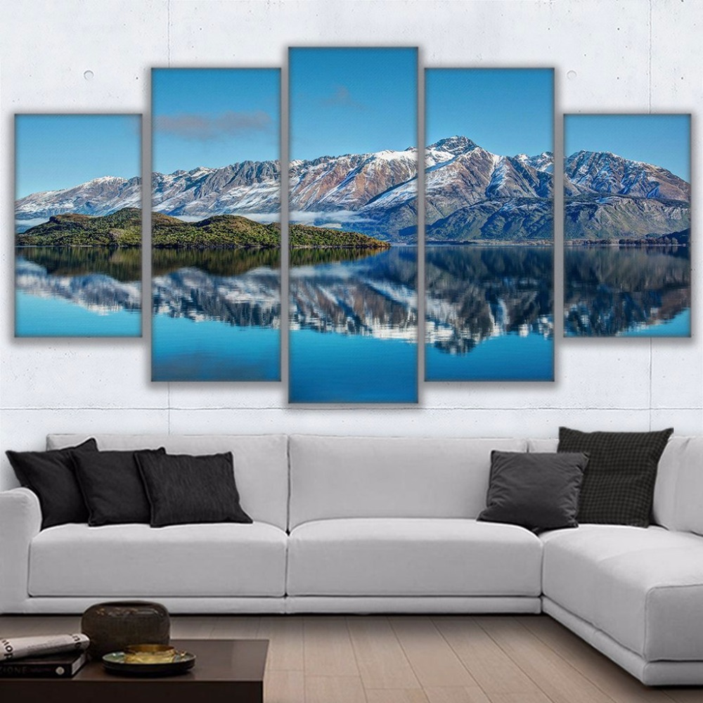 Best Canvas Prints Poster Wall Art Frame Home Decor 5 Piece Queenstown Mountains Painting New Zealand This Month
