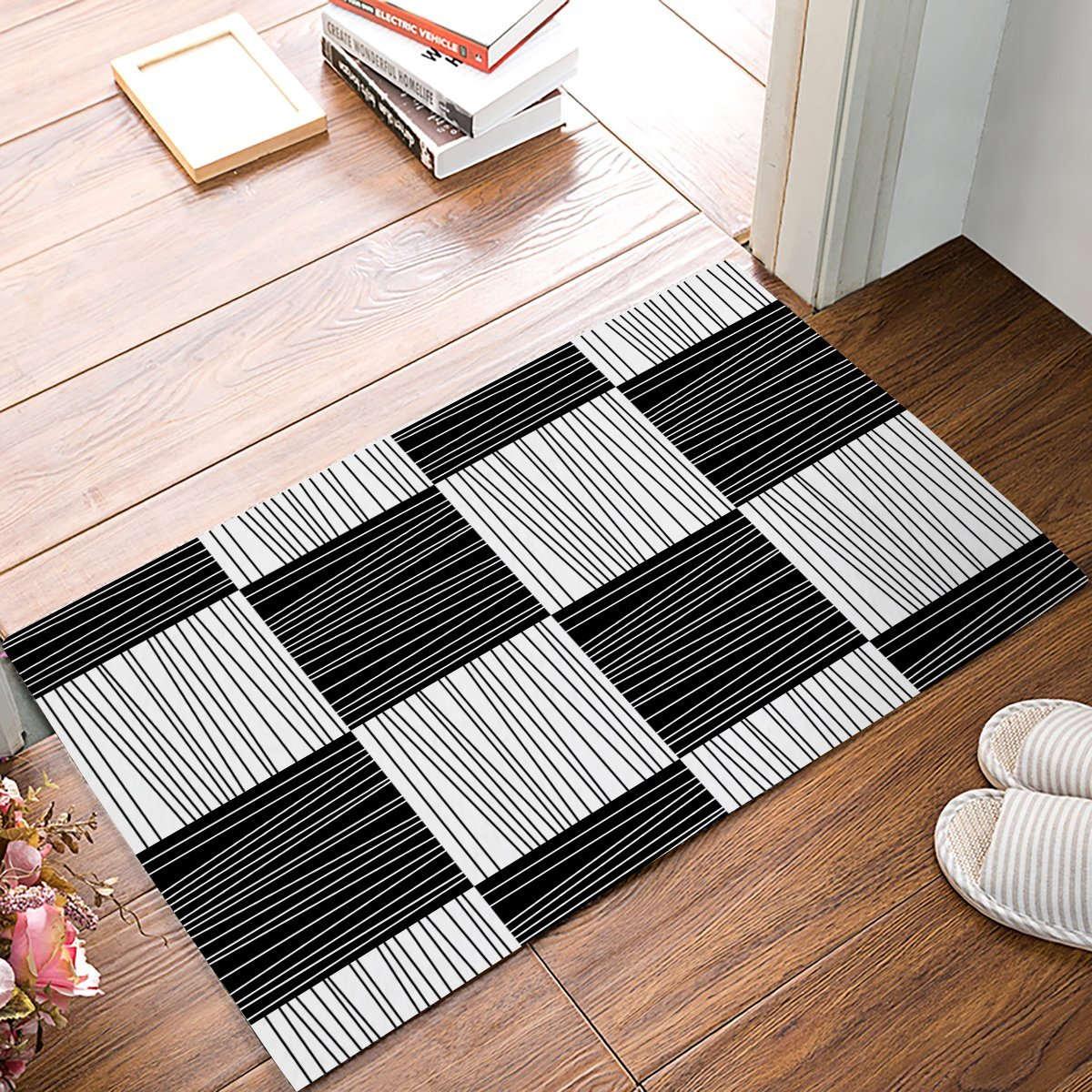 Best Modern Geometric Decorative Black And White Stripe Square This Month